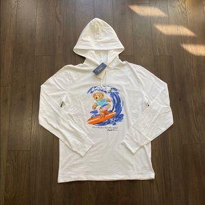 Polo Ralph Lauren Surfer Bear Hoodie L/S T-Shirt